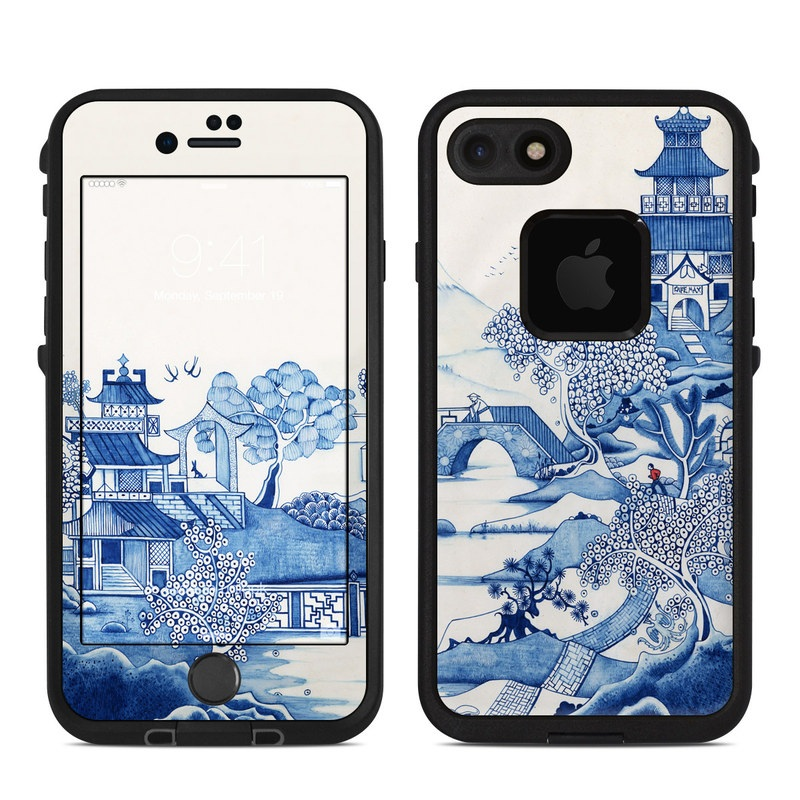 Blue Willow LifeProof iPhone 8 fre Case Skin