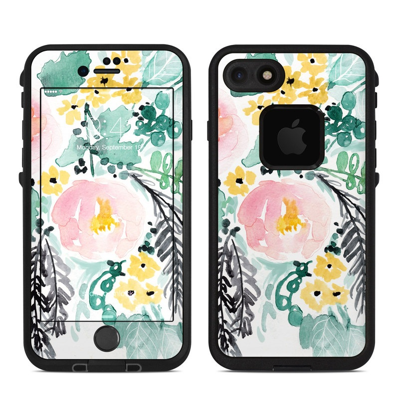 Blushed Flowers LifeProof iPhone 8 fre Case Skin