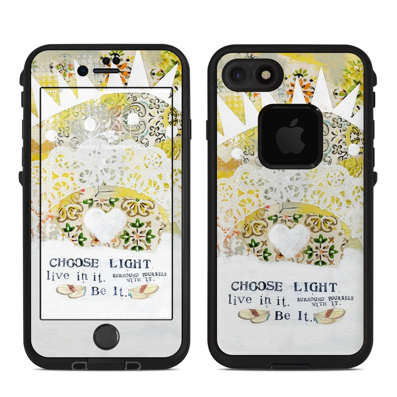 Choose Light LifeProof iPhone 8 fre Case Skin