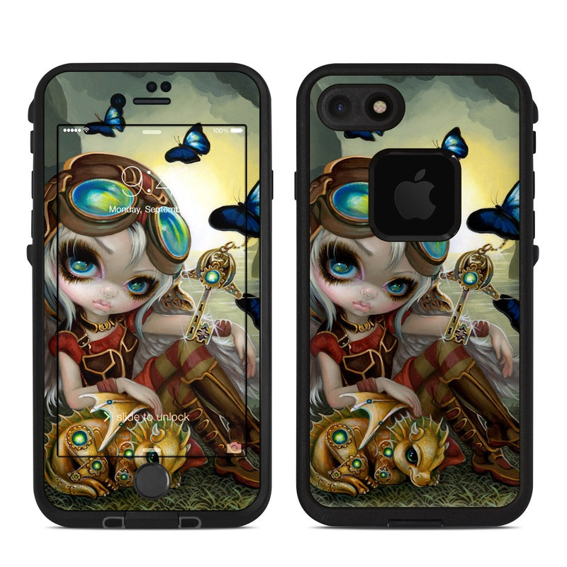 LifeProof iPhone 8 fre Case Skin design of Cg artwork, Illustration, Fictional character, Art, Mythology, Games, Massively multiplayer online role-playing game with black, green, red, yellow, brown, blue colors