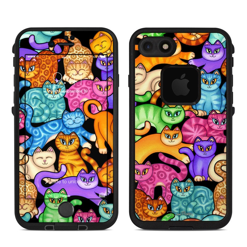 Colorful Kittens LifeProof iPhone 8 fre Case Skin