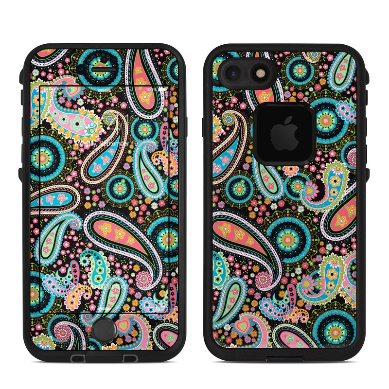 Crazy Daisy Paisley LifeProof iPhone 7 fre Case Skin
