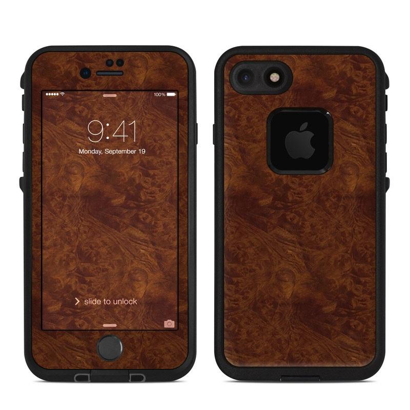 Dark Burlwood LifeProof iPhone 8 fre Case Skin