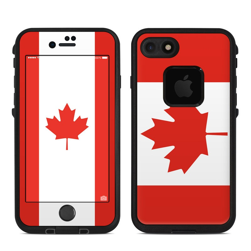 Canadian Flag LifeProof iPhone 7 fre Case Skin