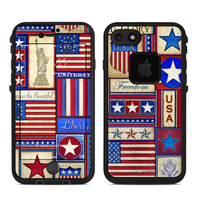 Flag Patchwork LifeProof iPhone 7 fre Case Skin