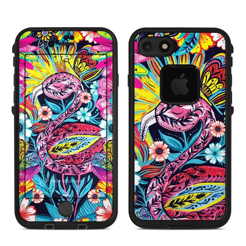 Flashy Flamingo LifeProof iPhone 8 fre Case Skin