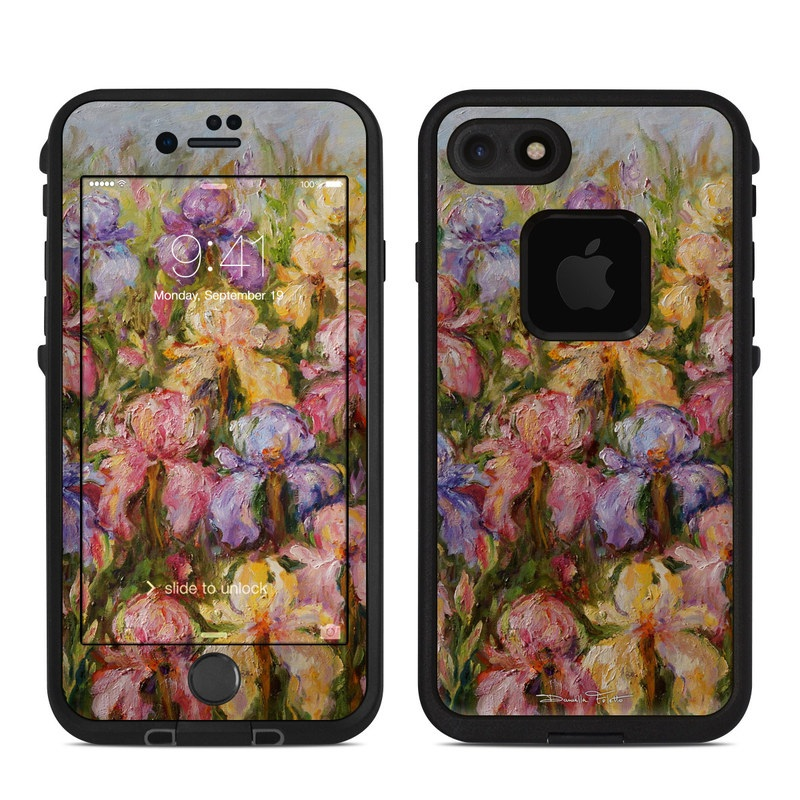 Field Of Irises LifeProof iPhone 7 fre Case Skin