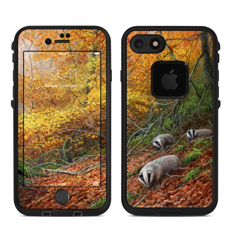 Forest Gold LifeProof iPhone 8 fre Case Skin