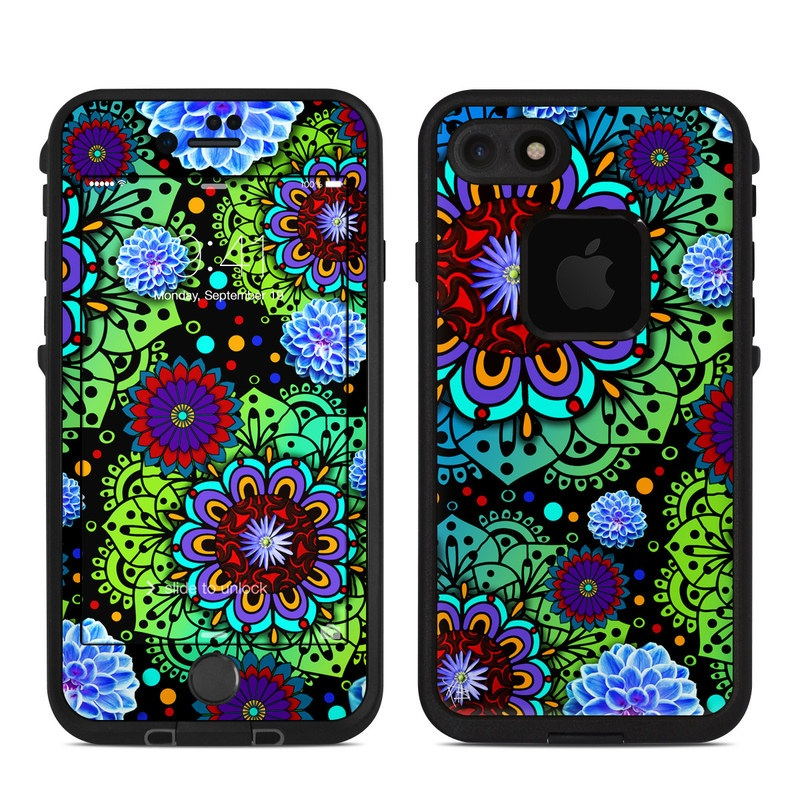Funky Floratopia LifeProof iPhone 8 fre Case Skin