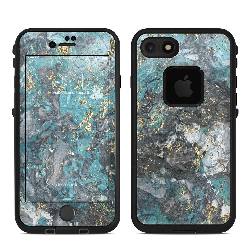 Gilded Glacier Marble LifeProof iPhone 8 fre Case Skin