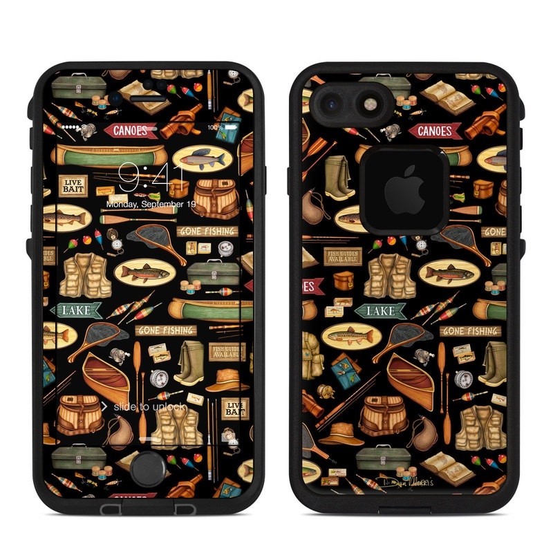 Gone Fishing LifeProof iPhone 7 fre Case Skin