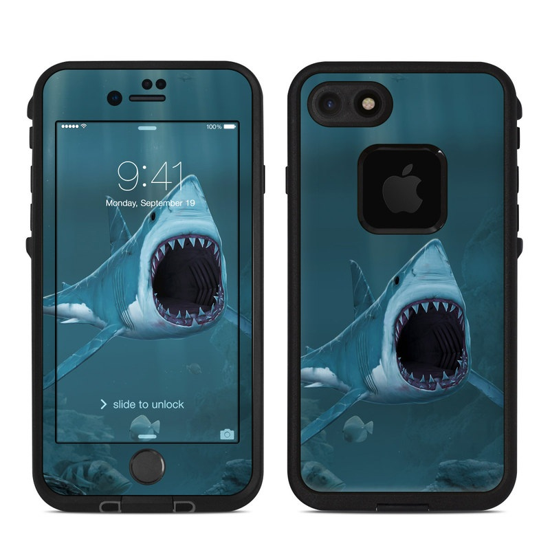 Great White LifeProof iPhone 8 fre Case Skin