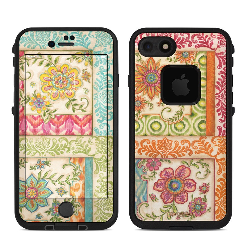 Ikat Floral LifeProof iPhone 7 fre Skin