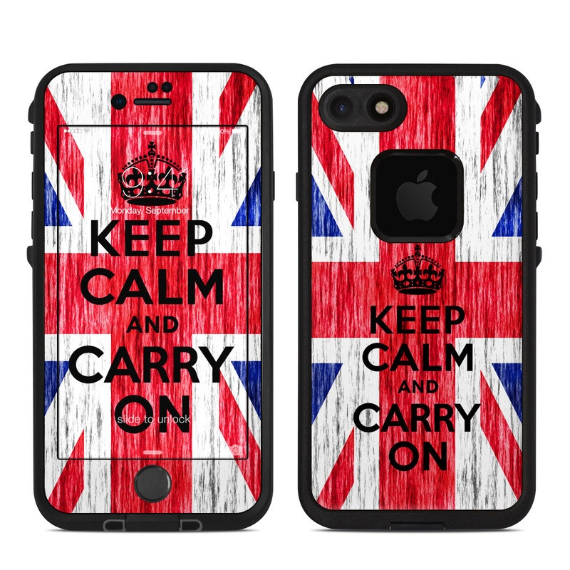 Keep Calm - Grunge LifeProof iPhone 8 fre Case Skin