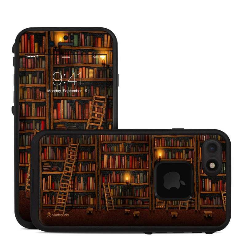 Library LifeProof iPhone 8 fre Case Skin