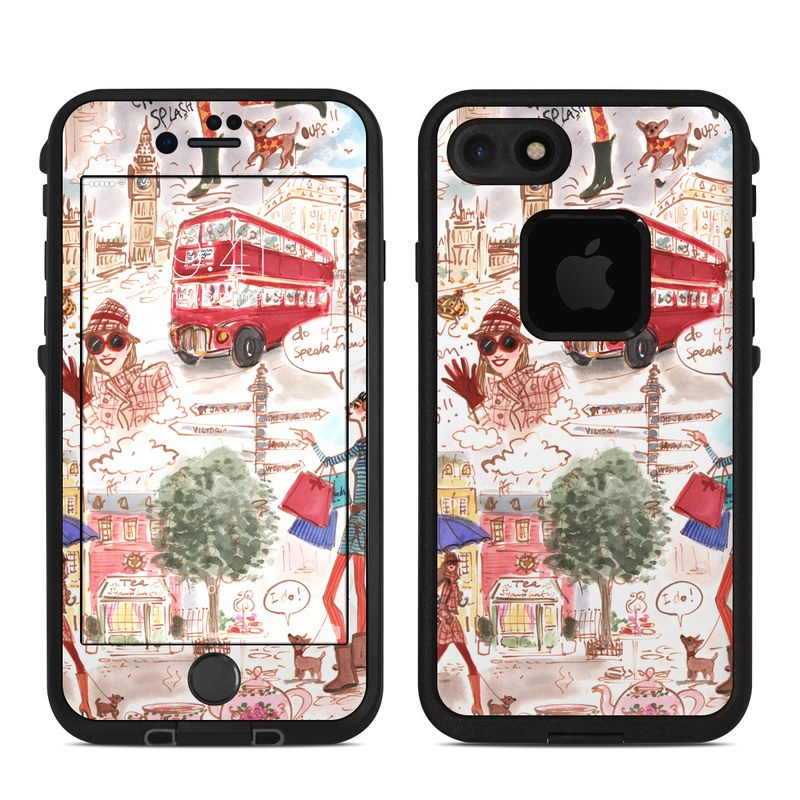 London LifeProof iPhone 7 fre Case Skin
