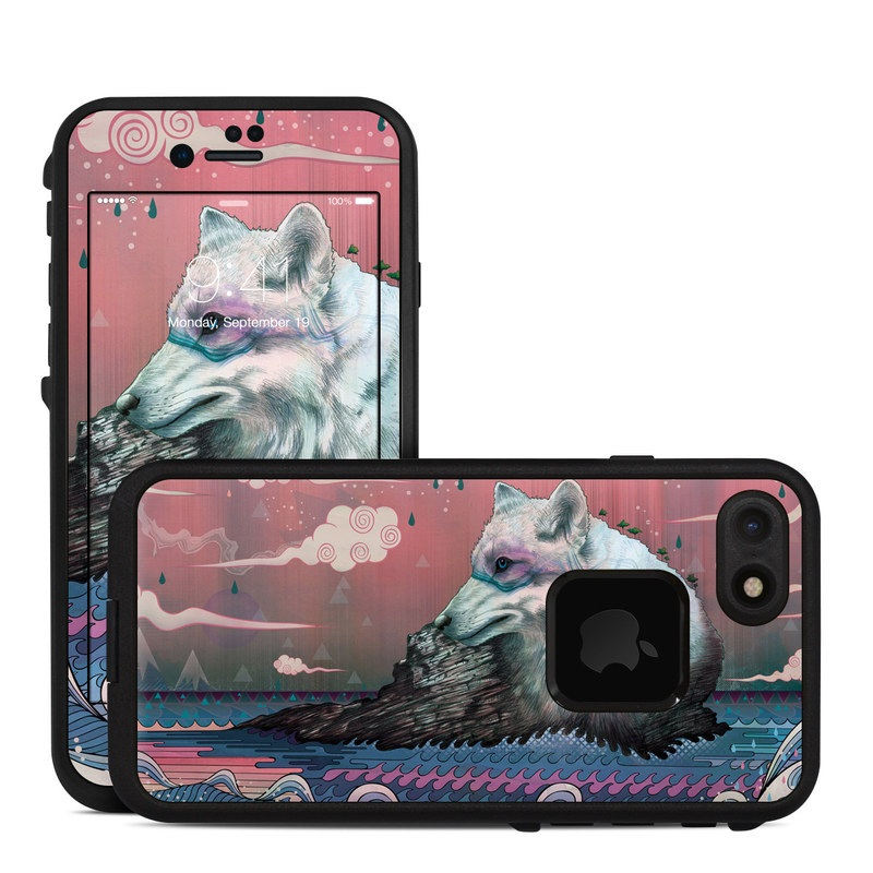 Lone Wolf LifeProof iPhone 7 fre Case Skin