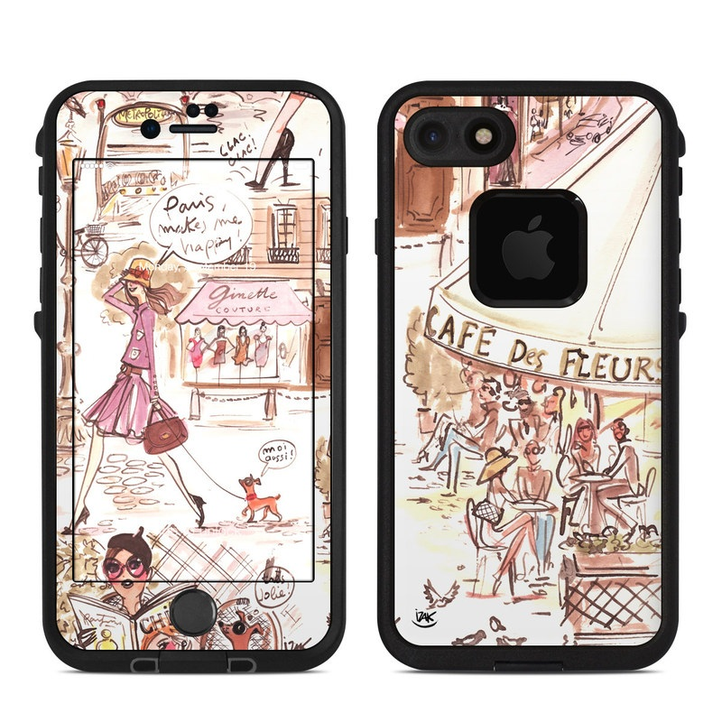 Paris Makes Me Happy LifeProof iPhone 8 fre Case Skin