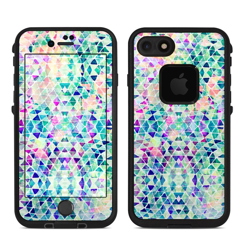 Pastel Triangle LifeProof iPhone 8 fre Case Skin