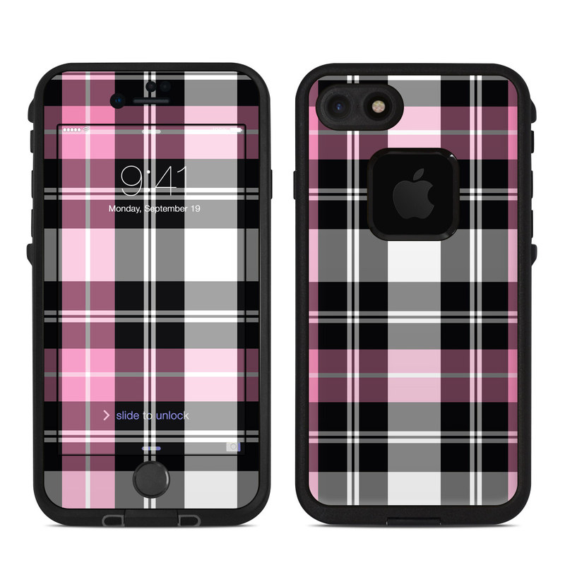 Pink Plaid LifeProof iPhone 8 fre Case Skin