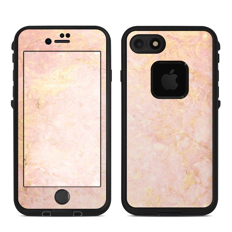 Rose Gold Marble Lifeproof Iphone 8 Fre Case Skin