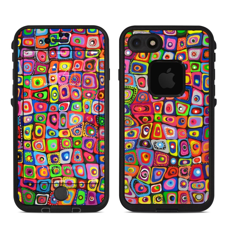 Square Dancing LifeProof iPhone 8 fre Case Skin