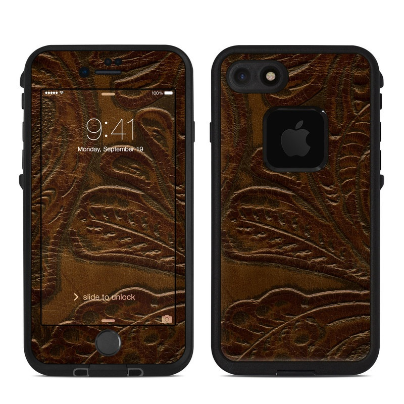 Saddle Leather LifeProof iPhone 7 fre Case Skin