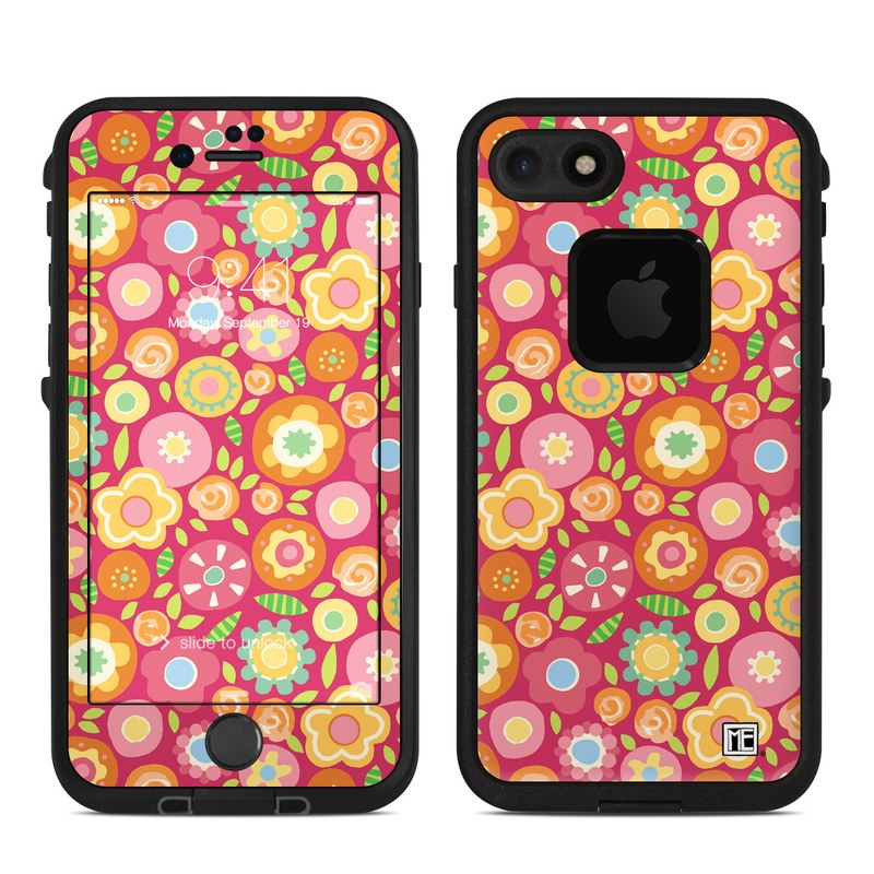 Flowers Squished LifeProof iPhone 8 fre Case Skin