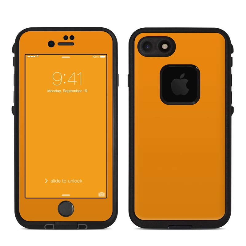 reputable site ceb9e dccce Solid State Orange LifeProof iPhone 8 fre Case Skin