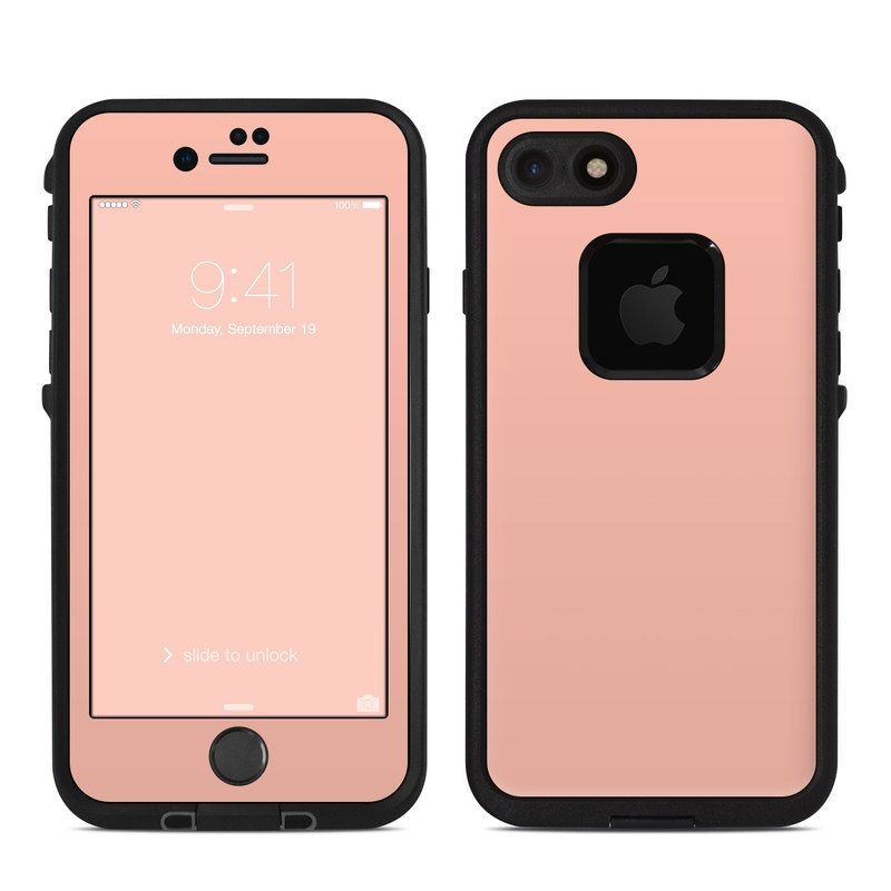 Solid State Peach LifeProof iPhone 8 fre Case Skin