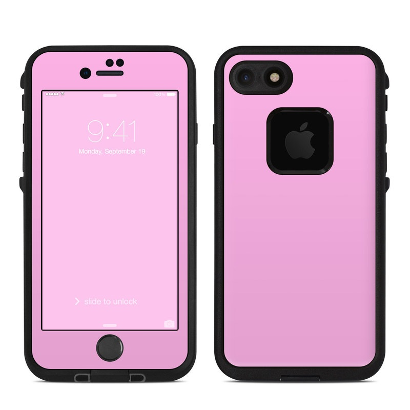 Solid State Pink LifeProof iPhone 8 fre Case Skin