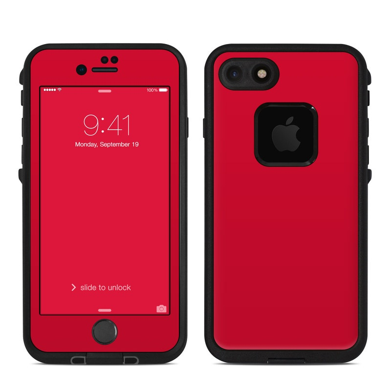 Solid State Red LifeProof iPhone 8 fre Case Skin