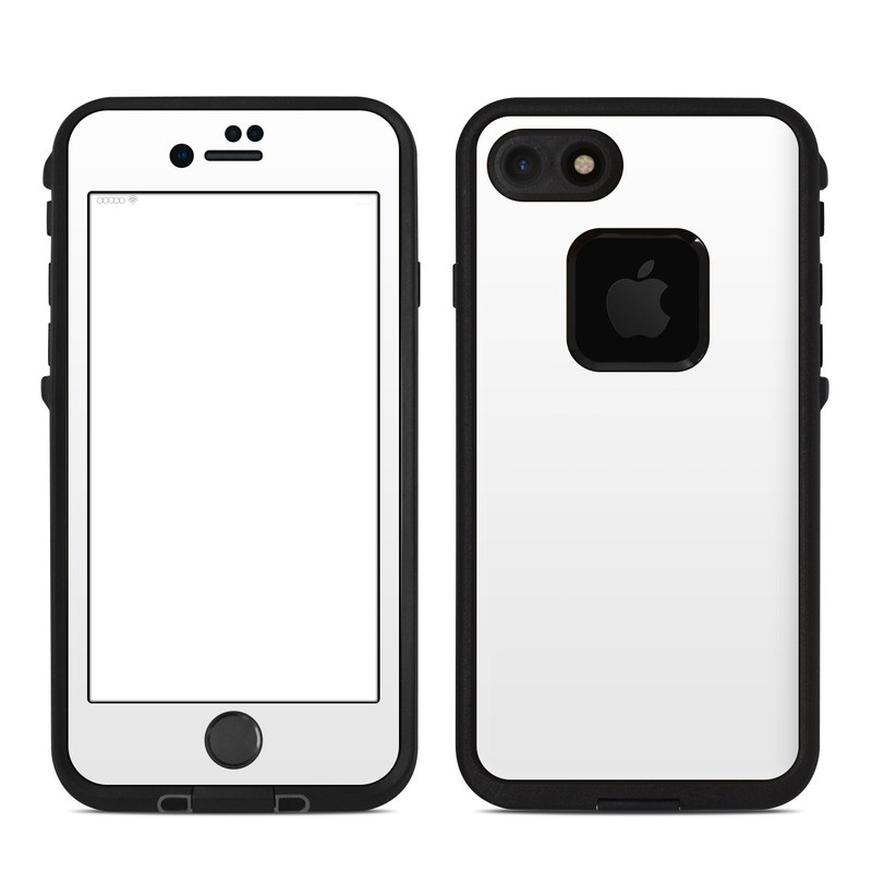Solid State White LifeProof iPhone 7 fre Case Skin