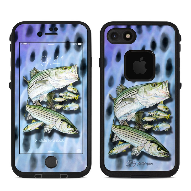Striped Bass LifeProof iPhone 8 fre Case Skin