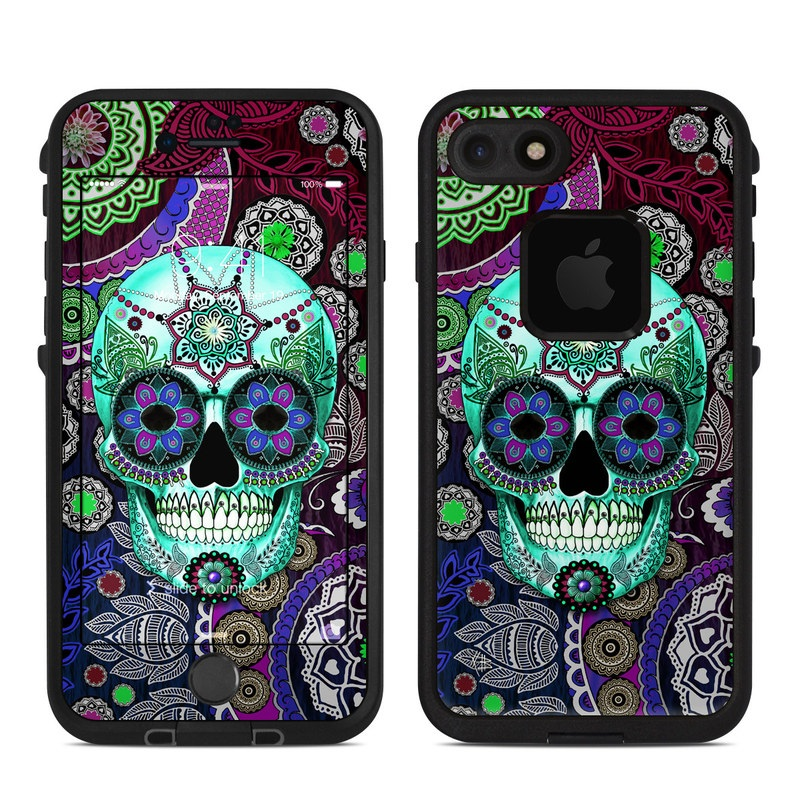 Sugar Skull Sombrero LifeProof iPhone 8 fre Case Skin