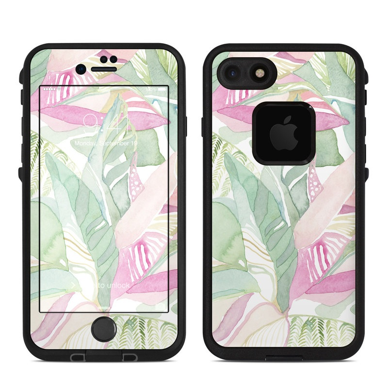 Tropical Leaves LifeProof iPhone 8 fre Case Skin