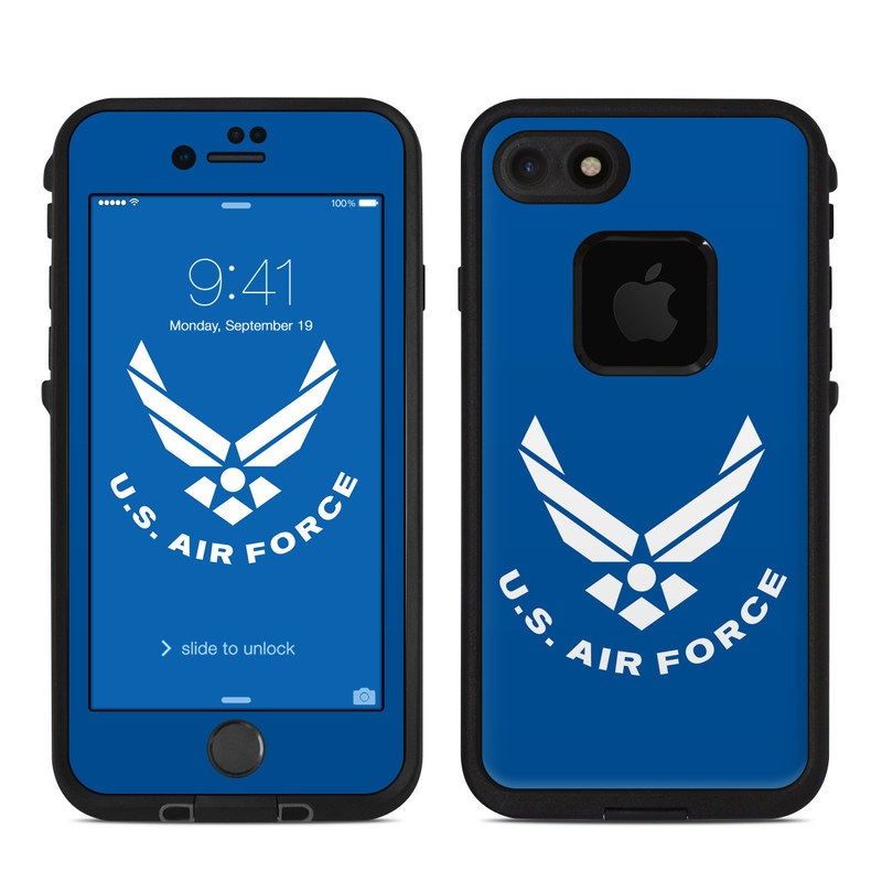 USAF Blue LifeProof iPhone 8 fre Case Skin
