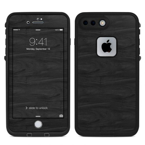 Black Woodgrain LifeProof iPhone 8 Plus fre Case Skin