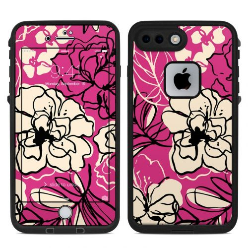 Black Lily LifeProof iPhone 7 Plus fre Case Skin