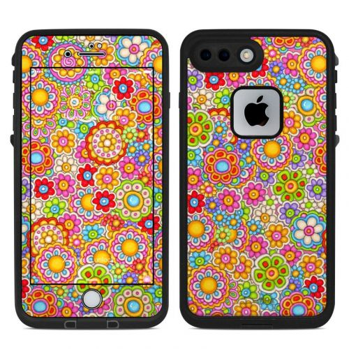 Bright Ditzy LifeProof iPhone 7 Plus fre Skin