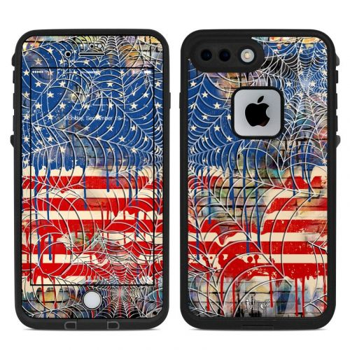 Cobweb Flag LifeProof iPhone 8 Plus fre Case Skin