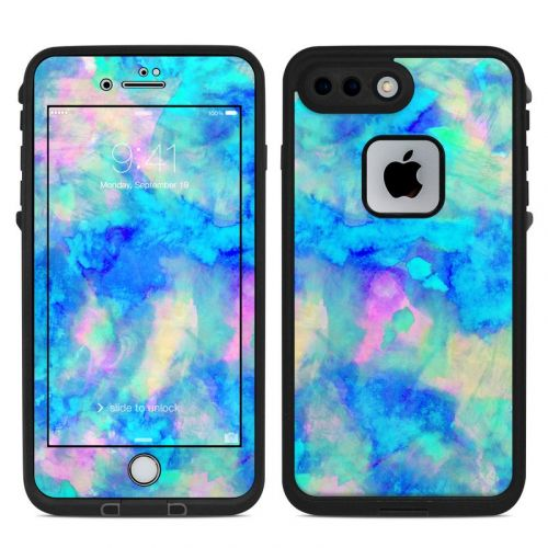 Electrify Ice Blue LifeProof iPhone 8 Plus fre Case Skin