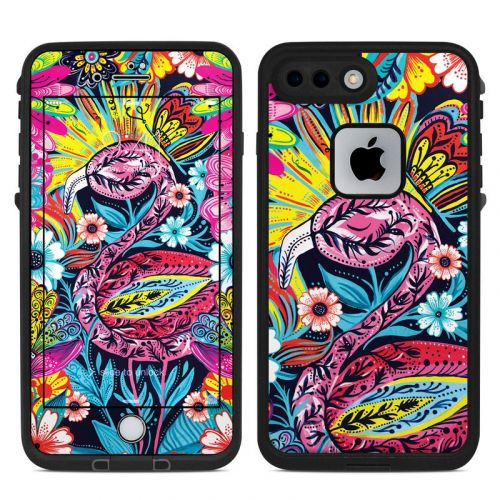 Flashy Flamingo LifeProof iPhone 8 Plus fre Case Skin