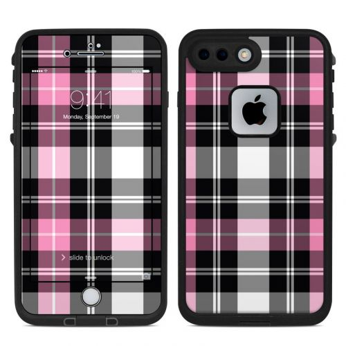 Pink Plaid LifeProof iPhone 8 Plus fre Case Skin