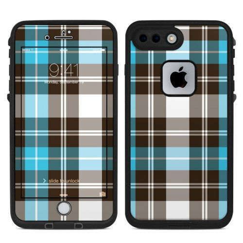 Turquoise Plaid LifeProof iPhone 7 Plus fre Skin