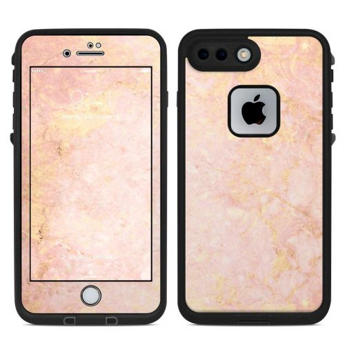 Rose Gold Marble LifeProof iPhone 7 Plus fre Case Skin