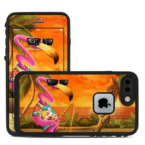 Sunset Flamingo LifeProof iPhone 8 Plus fre Case Skin