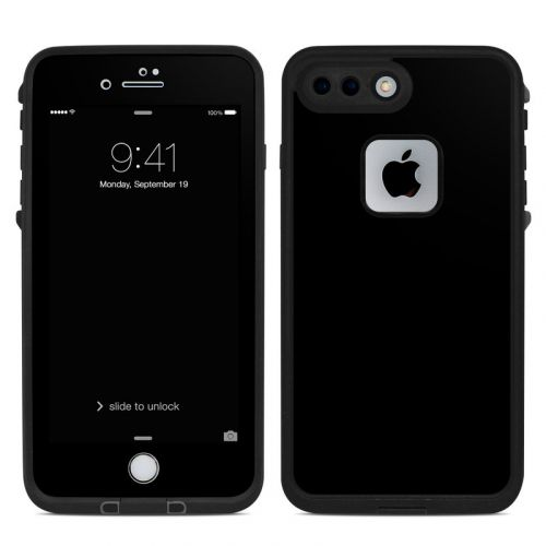 Solid State Black LifeProof iPhone 8 Plus fre Case Skin