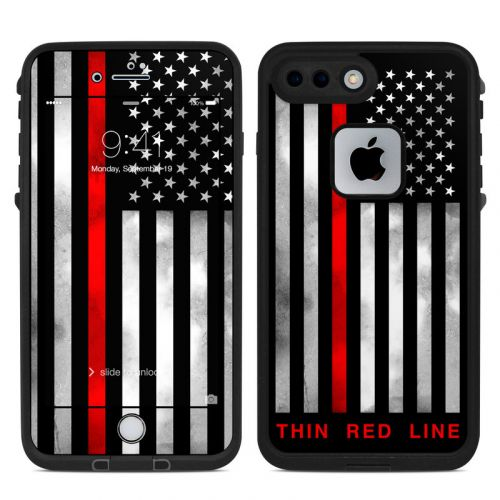 Thin Red Line LifeProof iPhone 8 Plus fre Case Skin