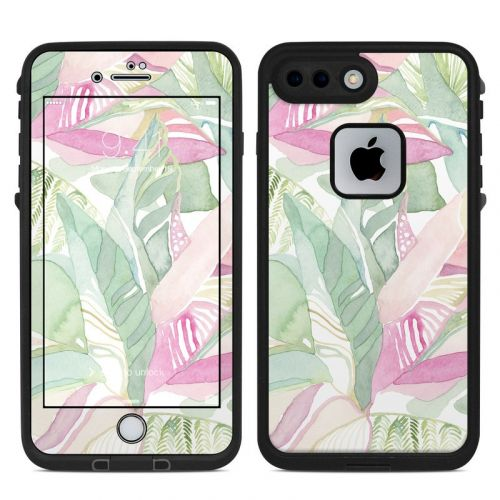 Tropical Leaves LifeProof iPhone 8 Plus fre Case Skin